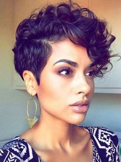 Curly Pixie Haircuts, Short Curly Pixie, Curly Hair Cuts, Short Wigs, Short Hair Cuts, Curly Hair Styles, Natural Hair Styles, Short Curls, Natural Curls