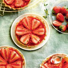 Tartelettes fraise basilic   Recette Minceur   Weight Watchers
