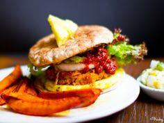 Pineapple Jerk Spiced Veggie Burger
