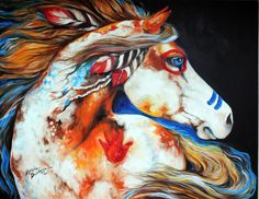 Indian Spirit Horse | Daily Paintings ~ Fine Art Originals by Marcia Baldwin