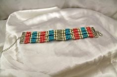 #bracelet #seedbeads #personalized #silver #pink #blue Seed Beads, Friendship Bracelets, Pink Blue, Silver, Handmade, Crafts, Jewelry, Hand Made, Manualidades
