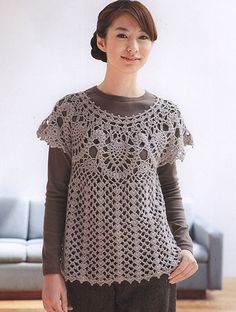 Craft Passions: Round Yolk pullover# free # crochet pattern link h...