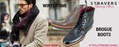 Sturdy brogue men's boots small size 3, 4, 5, 6