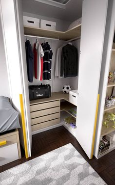 Dormitorio juvenil con armario de rincón (237 – J11) - Muebles CASANOVA