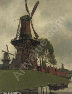 KARSEN Eduard - De vijf molens: a windmill