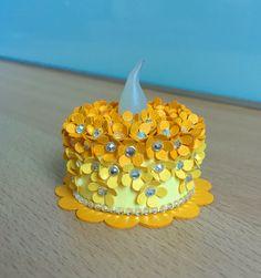 """""""Orange Blossom"""" Tea Light Cake"""
