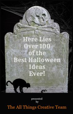 Over 100 Fun and Frightful Halloween Ideas – Cottage at the Crossroads Over 100 easy to DIY Halloween ideas-crafts, decor, recipes, and more! All in one place, too! Halloween Kostüm, Halloween Projects, Holidays Halloween, Halloween Treats, Halloween Decorations, Outdoor Decorations, Halloween Signs, Outdoor Halloween, Diy Projects
