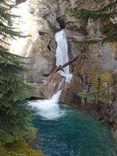 Johnston Canyon, Lower Falls Johnston Canyon, Banff, Waterfall, Outdoor, Outdoors, Waterfalls, Outdoor Games, Rain, Outdoor Life
