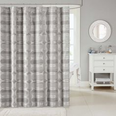 madison park matteo jacquard shower curtain 2color option