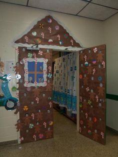 IzzyShare Bulletin Board Idea & Classroom Design Photo. Use gingerbread house idea for holiday bulletin board.