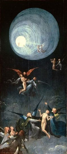 Ascent of the Blessed into Paradise (four hereafter representations) - Hieronymus Bosch (El Bosco) Hieronymus Bosch Paintings, Renaissance Kunst, Arte Tribal, Ouvrages D'art, Dutch Painters, Sgraffito, Fine Art, Religious Art, Dark Art
