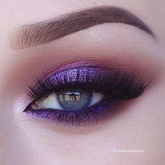 ideas for wedding makeup purple eyeshadow eyeliner Beautiful Eye Makeup, Pretty Makeup, Love Makeup, Makeup Inspo, Makeup Inspiration, Makeup Tips, Hair Makeup, Makeup Basics, Makeup Style