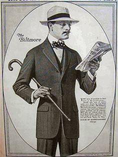 """Joseph Christian Leyendecker, vintage ad for the """"House of Kuppenheimer."""""""