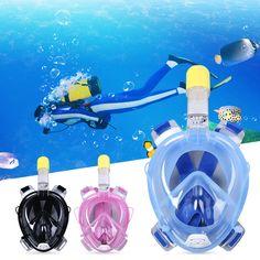 Underwater Diving Full Dry Snorkeling Diving Mask Set Swimming Training Scuba Anti Fog Gopro Camera Water Sport Breathing Tube