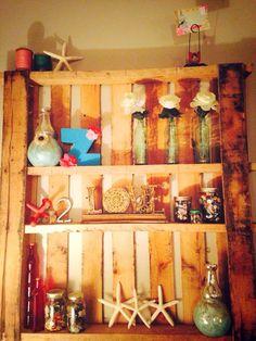 Pallet shelves.