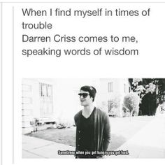 Thank you, Darren Criss!
