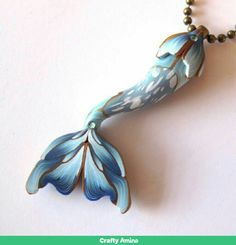 This is a mermaid tail made out of polymer clay