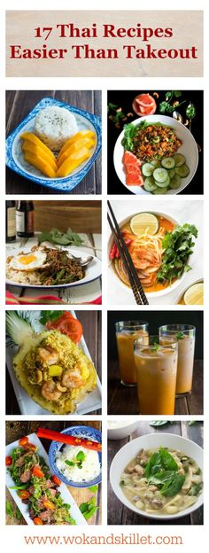17 Easy Thai Recipes That Will Make You Re-think Takeout! A round-up of delicious and super-easy Thai food recipes you can make for dinner tonight!