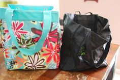 Essential Storage Tote compared to a reusable grocery bag... Not only FUNctional but durable  CUTE!!!  Get it for JUST $5 in July!!