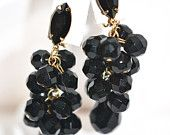 Lewis Segal Jet Black Glass Waterfall Clip On Earrings https://www.etsy.com/shop/LustfulJewels
