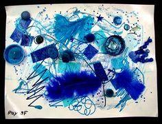 monochromatic collage, grade 3