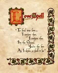 Printable Spell Book Pages | Love Spell by ~Charmed-BOS on deviantART