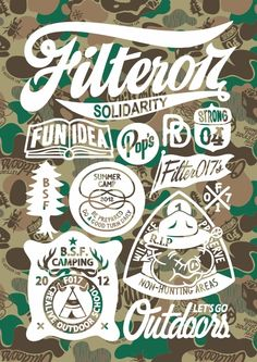 2012 Filter017 FCL OUTDOOR LAB Graphics Collection by Filter017 , via Behance