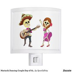 Mariachi Dancing Couple Day of the Dead Night Light