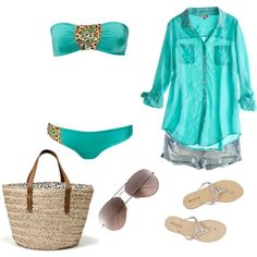 turquoise... Perfect for when we go to gulf shores this summer!