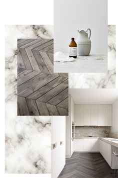 Herringbone floors and marble. By Elisabeth Heier
