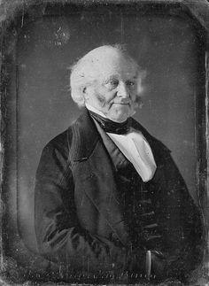 Daguerreotype of Martin Van Buren - 8th President of the United States - taken by Mathew Brady, 1849