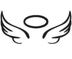 easy to draw angel wings halo Angle Wing Tattoos, Small Wing Tattoos, Best Friend Tattoos, Mom Tattoos, Cute Tattoos, In Memory Tattoos, Sleeve Tattoos, Angel Wings Clip Art, Angel Wings Drawing