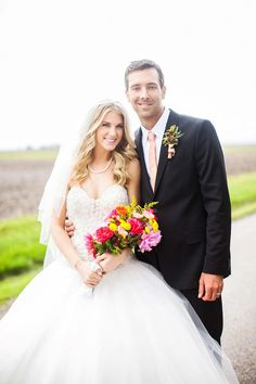 #FarmWedding: Clara Henningsen of The Henningsens married Jacob Calaway on Saturday, May 4, 2013 on the Henningsen family farm in Illinois. See more wedding photos >> http://www.greatamericancountry.com/living/lifestyles/country-weddings-pictures?soc=pinterest Celebrity Weddings, Celebrity Couples, Farm Wedding, Wedding Day, Back Porches, Wedding Couples, Wedding Pictures, Wedding Styles, Wedding Hairstyles