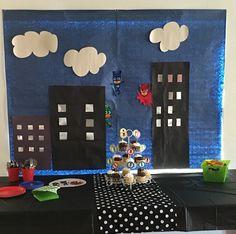 Pj Masks bday 5th Birthday Party Ideas, Boy Birthday, Pj Max, Pop Art Party, Festa Pj Masks, Girl Superhero Party, Mask Party, Party Time, Diy