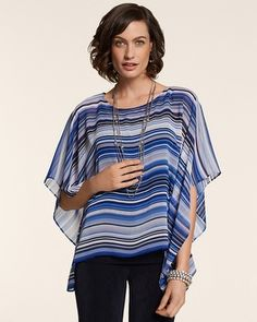 Having fun with stripes...(Chico's Travelers Collection Watercolor Amanda Top #chicos)