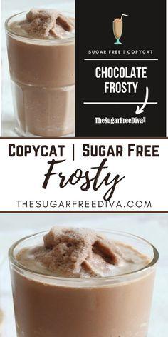 Frozen Chocolate, Chocolate Shake, Sugar Free Chocolate, Chocolate Recipes, Low Cal Ice Cream, Sugar Free Ice Cream, Yummy Drinks, Delicious Desserts, Yummy Food