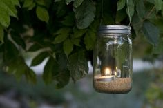 How to Make Hanging Mason Jar Candle Holders. Candles are the ideal complements to decorate a room with recycled material as they create a warm environment.