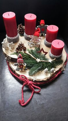 Christmas centerpiece Can also be changed for Any other Holiday centers Piece christmas tablescapes , Christmas centerpiece Can also be changed for Any other Holiday centers Piece Christmas centerpiece Can also be changed for Any other Holiday centers . Christmas Advent Wreath, Handmade Christmas Decorations, Noel Christmas, All Things Christmas, Vintage Christmas, Christmas Crafts, Advent Wreaths, Holiday Centerpieces, Christmas Tablescapes