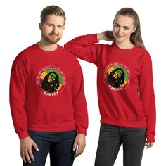 Live the Life You Live Quote by Marley, Men's Quote Sweatshirt - Red / 4XL