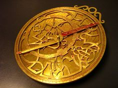 Astrolabe old MiddleAge pagan tech computer mystery/beauty for sky map/astronomy/time/day calc with earth as center of Universe, typically brass) built for Eugenio Rodríguez (photo 2008 adapar Globes Terrestres, Tarot, Classical Greece, Instruments, Spiritus, Sun And Stars, Daily Horoscope, Monthly Horoscope, Star Sky