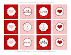 Printable cupcake toppers #Valentine