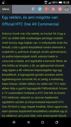Kicsit a mélyére ástunk egy reklámnak.  Végre van marketing a HTC háza táján.  http://www.vizualteszt.hu/blogok/htc-blog/73-egy-reklam-es-ami-mogotte-van-offical-htc-one-a9-commercial.html  #HTC #htcmagyarország #htc #ONE #A9 #adreno405 #Qualcomm #Snapsragon617 #reklám #marketing #official #promo #apple #comnercial