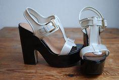 White platform sandals by Zalando Collection.