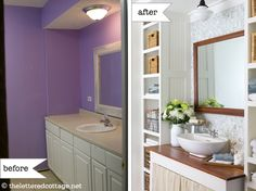 not a fan of the skirted sink, but otherwise, love!
