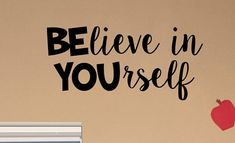 Teacher Signs Discover BElieve in YOUrself Classroom Door Vinyl Wall decal School Elementary Classroom Teacher Decal Educational