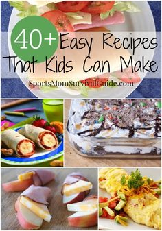 Find 40+ easy recipes that kids can cook. Most are simple enough for school age kids!