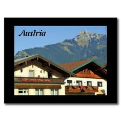 Shop Austria - Postcard created by stdjura. Austria, Switzerland, Colorful Backgrounds, Mansions, House Styles, Places, Photography, Travel, Postcards