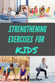 Strengthening exercises can help kids improve performance and avoid injury. Here are strengthening exercises for kids, with no equipment needed. #kidsexercise #kidsfitness #kidsstrengthening Posture Exercises, Abdominal Exercises, Abdominal Muscles, Physical Activities For Kids, Fitness Activities, Physical Education, Bird Dog Exercise, Exercise For Kids, Running Club