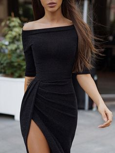 Off Shoulder Ruched Thigh Split Party Dress , Off Shoulder Ruched Thigh Split Bodycon Dress Source by Tight Dresses, Sexy Dresses, Short Dresses, Fashion Dresses, Prom Dresses, Formal Dresses, Summer Dresses, Wedding Dresses, Date Night Dresses