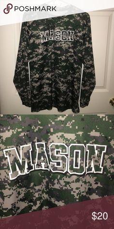 George Mason Camouflage Long Sleeve Shirt Selling a camouflage George Mason athletics long sleeve. Size is Men's Medium. Make me an offer!! Badges Sport Shirts Tees - Long Sleeve